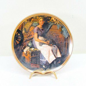 Norman Rockwell Decorative Plate 1984 Dreaming